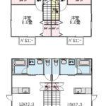1-2階を使用するメゾネットタイプ(間取)