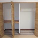 2階北側のお部屋収納アップ。3連扉で収納量◎